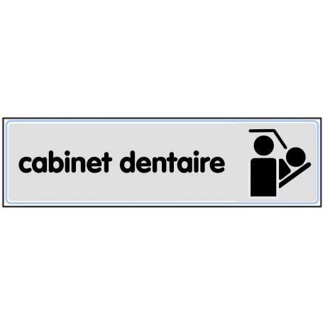 Plaquette plexiglas classique argent - Cabinet dentaire