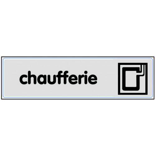 Plaquette Plexiglas Classique Argent - Chaufferie