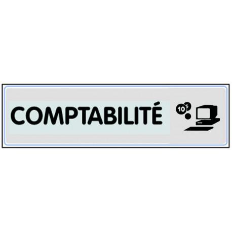 Plaquette plexiglas classique argent - Comptabilité