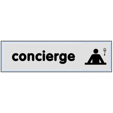 Plaquette plexiglas classique argent - Concierge