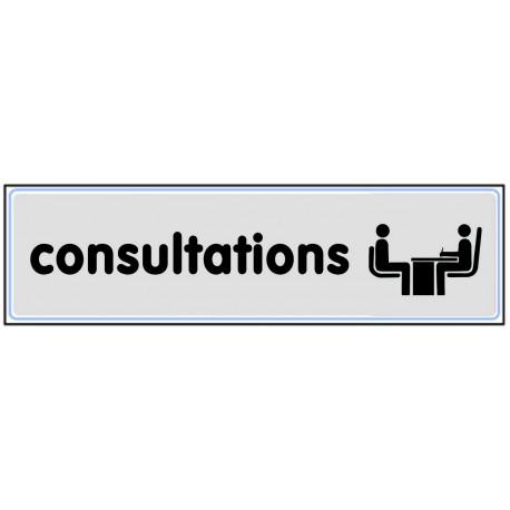 Plaquette plexiglas classique argent - Consultations