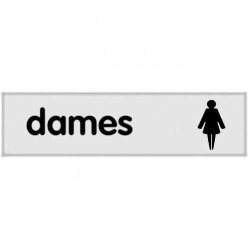 Plaquette plexiglas classique argent - Dames