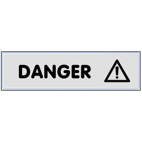 Plaquette Plexiglas Classique Argent - Danger