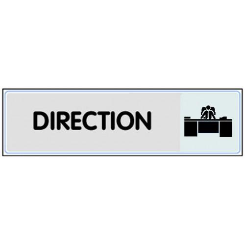 Plaquette plexiglas classique argent - Direction