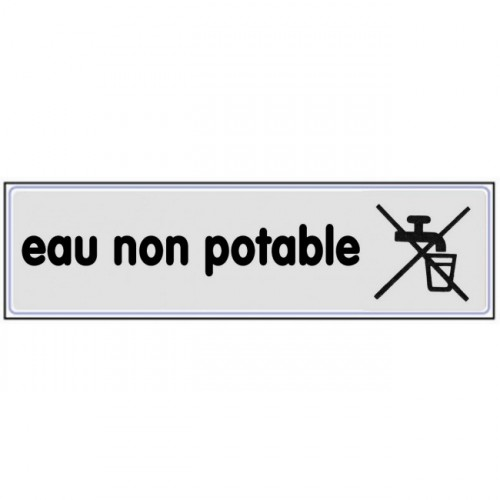 Plaquette plexiglas classique argent - Eau non potable