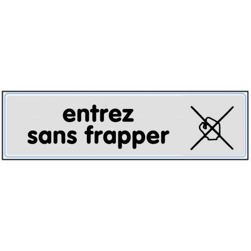 Plaquette Plexiglas Classique Argent - Entrez Sans Frapper