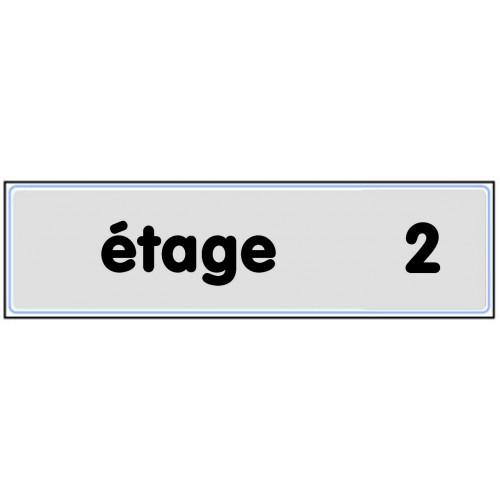 Plaquette Plexiglas Classique Argent - Etage 2