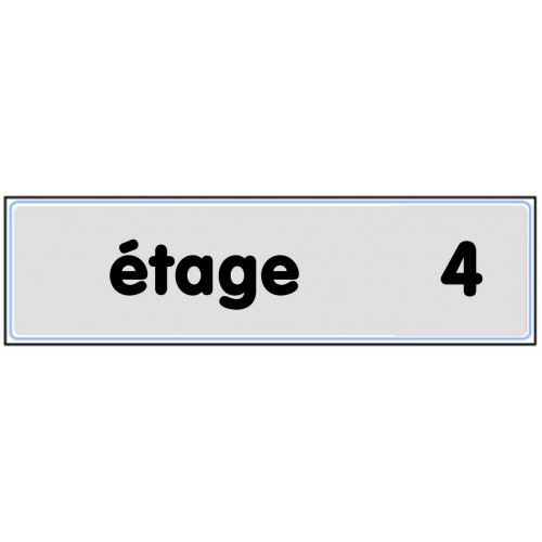 Plaquette Plexiglas Classique Argent - Etage 4