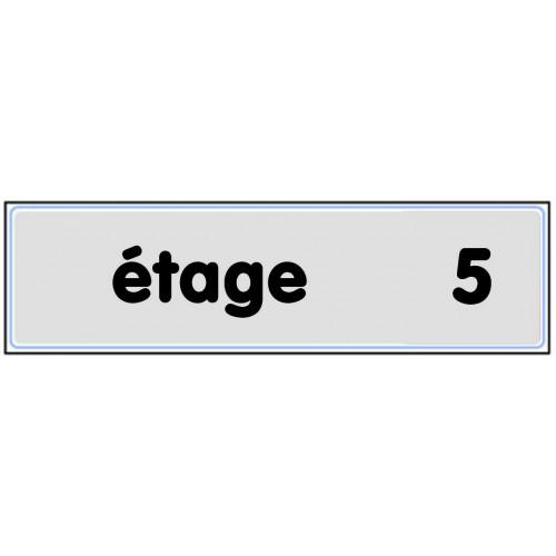 Plaquette Plexiglas Classique Argent - Etage 5