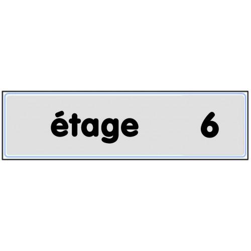 Plaquette Plexiglas Classique Argent - Etage 6