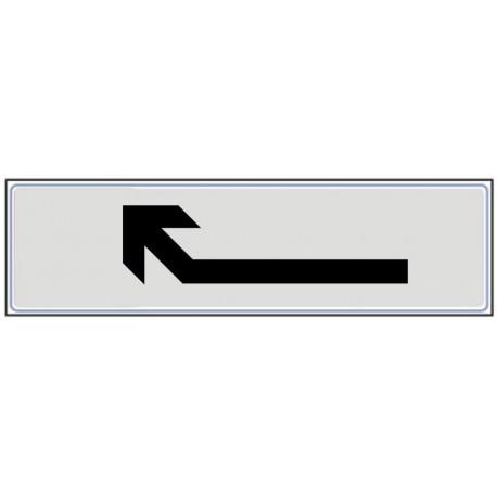Plaquette plexiglas classique argent - Flèche en haut à gauche
