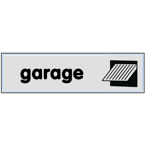 Plaquette Plexiglas Classique Argent - Garage