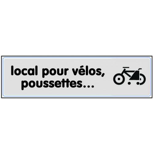 Plaquette Plexiglas Classique Argent - Local pour Vélos, Poussettes...