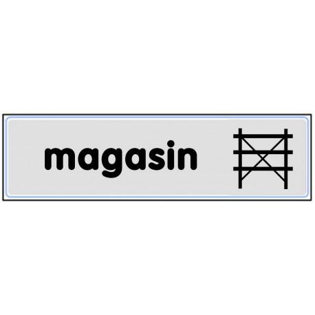 Plaquette plexiglas classique argent - Magasin