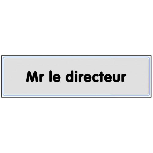 Plaquette Plexiglas Classique Argent - Mr Le Directeur