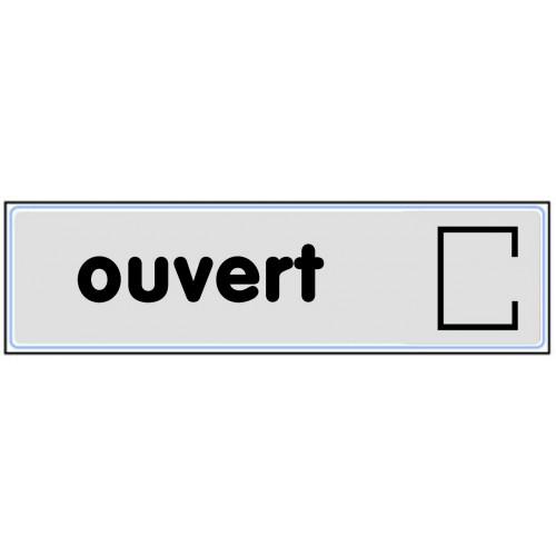 Plaquette Plexiglas Classique Argent - Ouvert