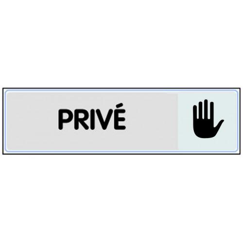 Plaquette Plexiglas Classique Argent - Privé