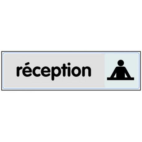 Plaquette plexiglas classique argent - Réception