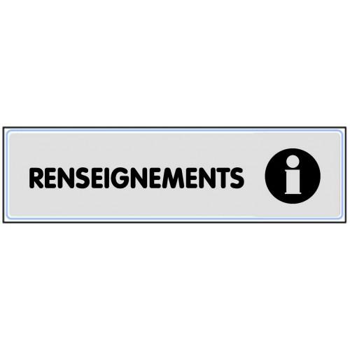Plaquette Plexiglas Classique Argent - Renseignements