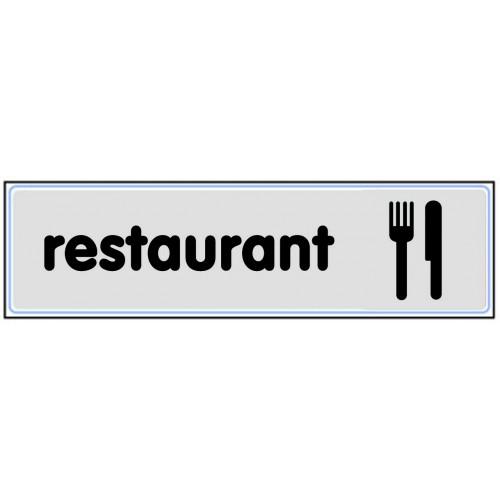 Plaquette Plexiglas Classique Argent - Restaurant