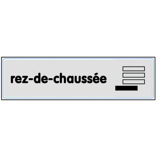 Plaquette Plexiglas Classique Argent - Rez-De-Chaussée