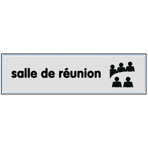 Plaquette Plexiglas Classique Argent - Salle De Réunion