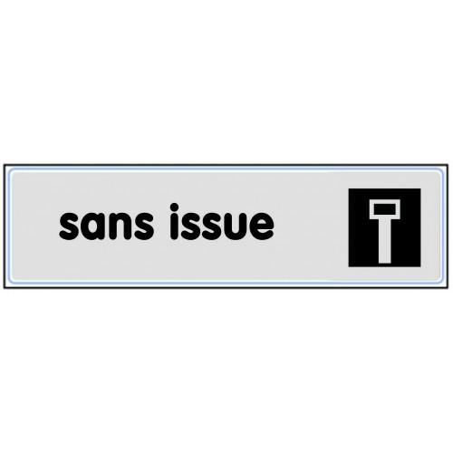 Plaquette Plexiglas Classique Argent - Sans Issue