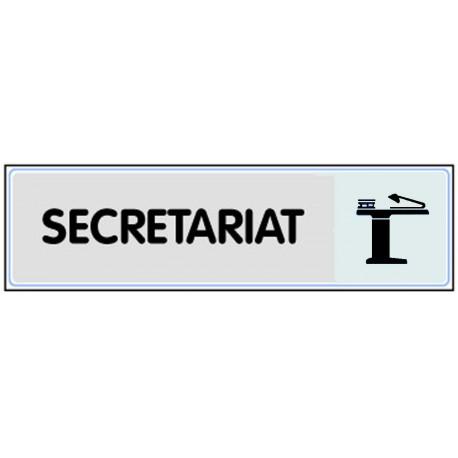 Plaquette plexiglas classique argent - Secrétariat
