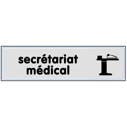 Plaquette Plexiglas Classique Argent - Secrétariat Médical