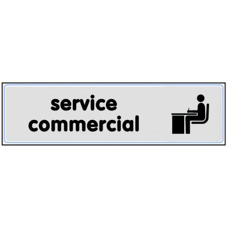 Plaquette plexiglas classique argent - Service commercial