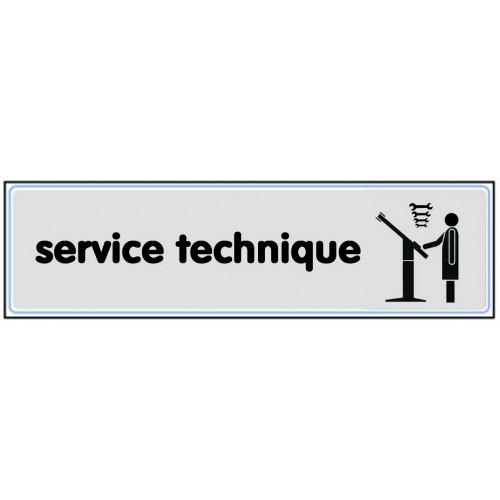 Plaquette Plexiglas Classique Argent - Service Technique