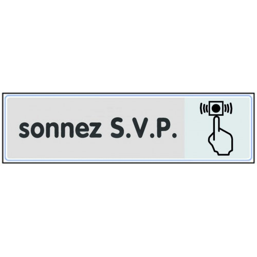 Plaquette Plexiglas Classique Argent - Sonnez S.V.P
