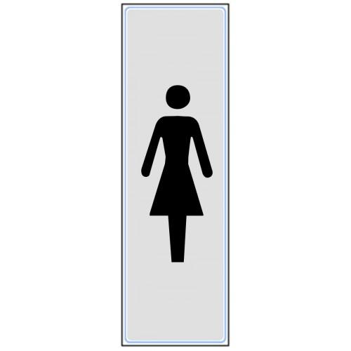 Plaquette Plexiglas Classique Argent - Dames - Verticale