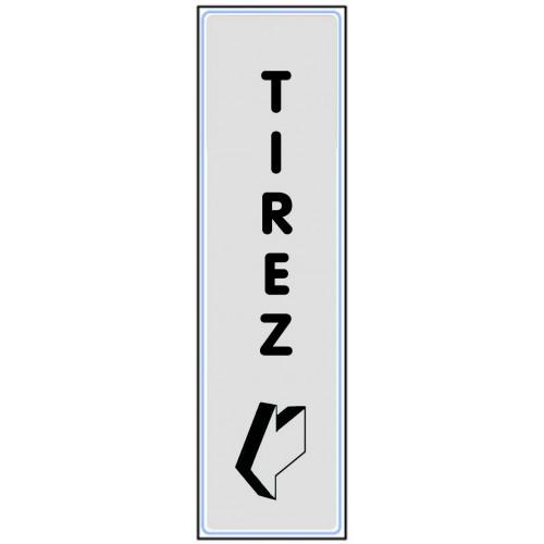 Plaquette Plexiglas Classique Argent - Tirez - Verticale