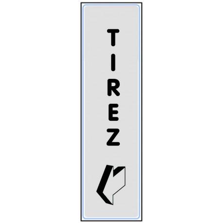 Plaquette plexiglas classique argent - Tirez