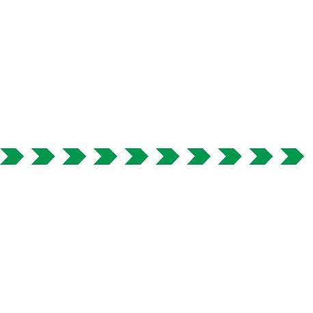 Bandes adhésives pour repérage des portes vitrées 52 mm - chevrons vert