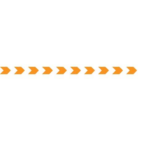 Bandes adhésives pour repérage des portes vitrées 52 mm - chevrons orange
