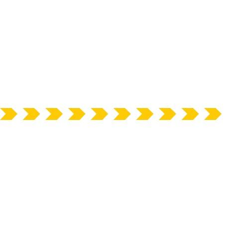 Bandes adhésives pour repérage des portes vitrées 52 mm - chevrons jaune