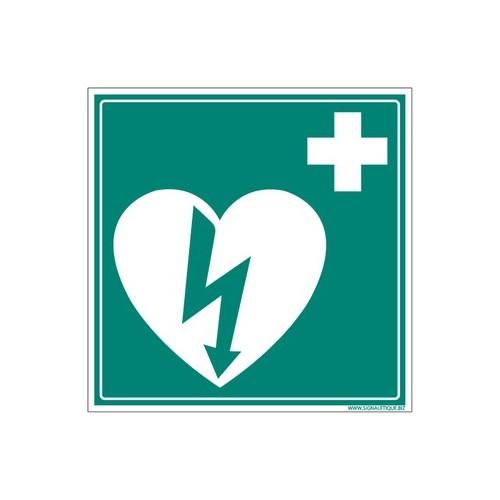 panneau défibrillateur cardiaque - alu