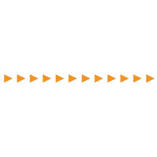 Bandes Adhésives Repérage Des Portes Vitrées - Flèches Oranges