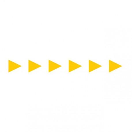 Bandes adhésives pour repérage des portes vitrées 100 mm - Flèches jaunes