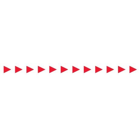 Bandes adhésives pour repérage des portes vitrées 52 mm - Flèches rouges