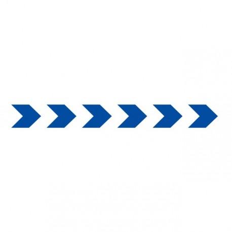 Bandes adhésives pour repérage des portes vitrées 100 mm - chevrons bleu