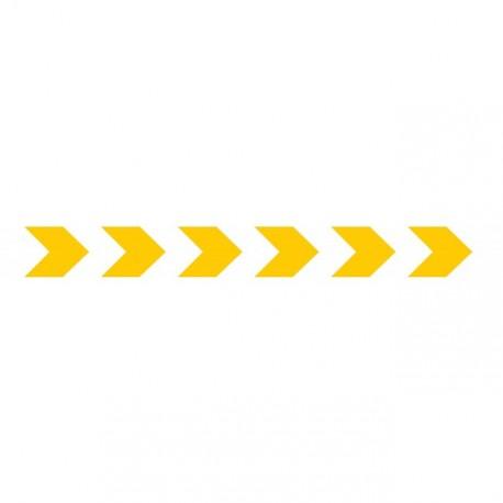 Bandes adhésives pour repérage des portes vitrées 100 mm - chevrons jaune