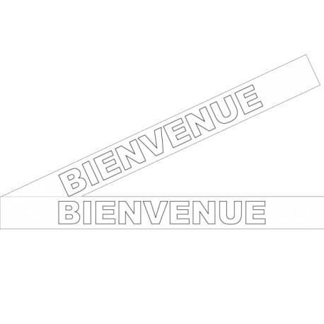 """Bandes adhésives pour repérage des portes vitrées 100 mm - """"Bienvenue"""" blanc"""