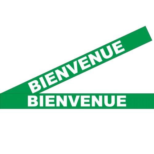 """Bandes Adhésives Repérage Des Portes Vitrées - """"Bienvenue"""" Vert"""