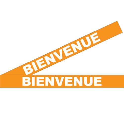 """Bandes Adhésives Repérage Des Portes Vitrées - """"Bienvenue"""" Orange"""