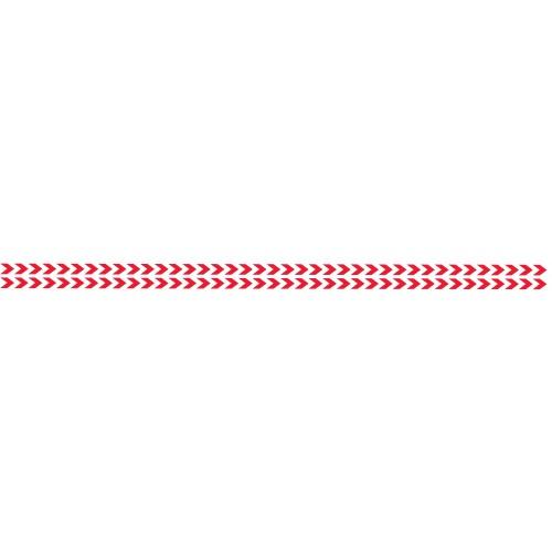 Bandes Adhésives Repérage Des Portes Vitrées - Double Chevrons Rouges