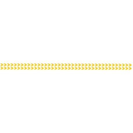 Bandes adhésives pour repérage des portes vitrées 52 mm - Double chevrons jaune