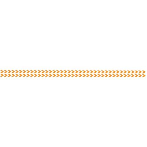 Bandes Adhésives Repérage Des Portes Vitrées - Double Chevrons Oranges